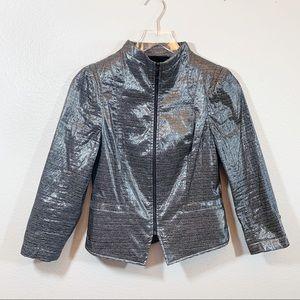 Carlisle jacket metallic zip up black and grey